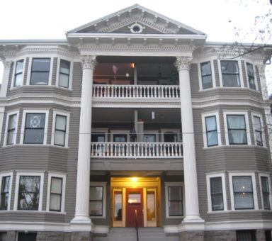 4-story victorian apartment building
